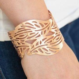 Paparazzi Leafy Lei Rose Gold Bracelet